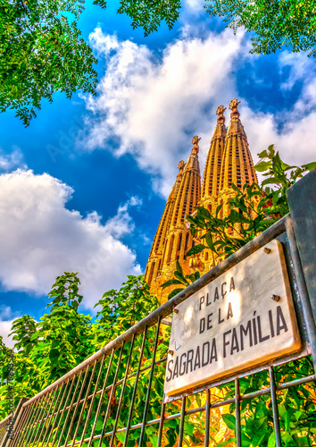 The Sagrada Familia church in Barcelona, Spain - 79893524