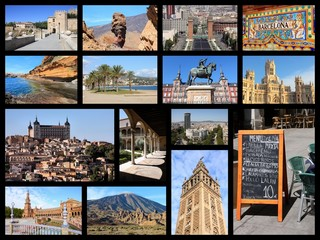 Spain - travel collage