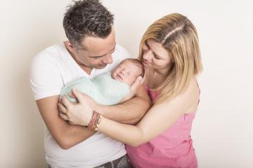 Newborn Familien mit Baby