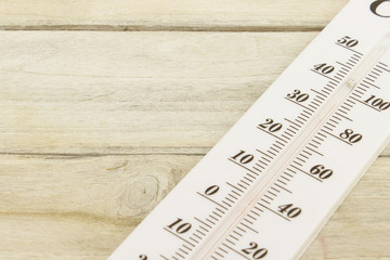 thermometer on wood