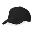 Vector illustration of black baseball cap in a half-turn - 79895118