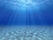 The sun's rays underwater