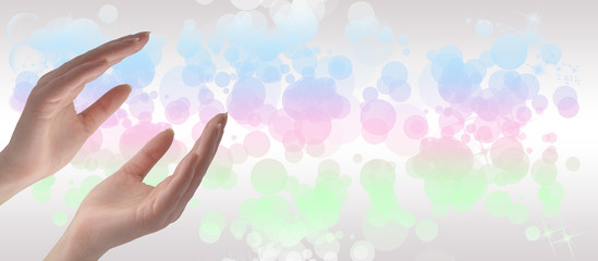 Healing hands website header