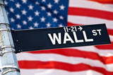 Close up of a Wall street direction sign, New York, USA - Fine Art prints