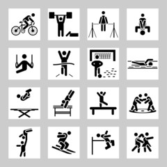 Sport related icons set