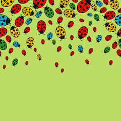 background with variegated ladybugs