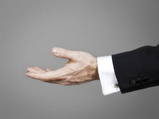 businessmans hand