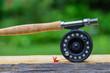 Flyfishing rod and reel