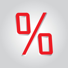 Percent Sign 3D Sale