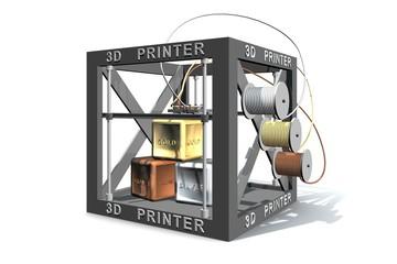 Goud zilver en brons printen met 3d printer
