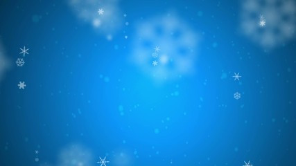 Snow shapes on blue background