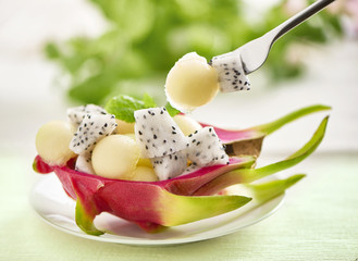 dragonfruit melon dessert