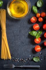 Cherry tomato and spaghetti