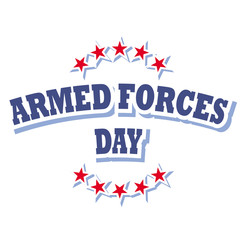 armed forces day sign
