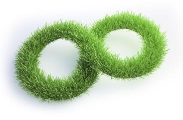 Grass patch shaped like an infinity symbol