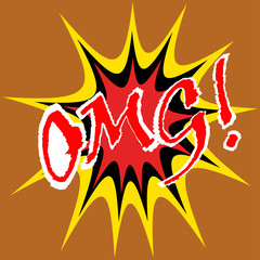 OMG! ! comic speech bubble