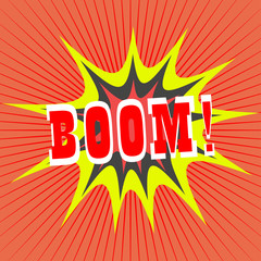 BOOM! comic speech bubble