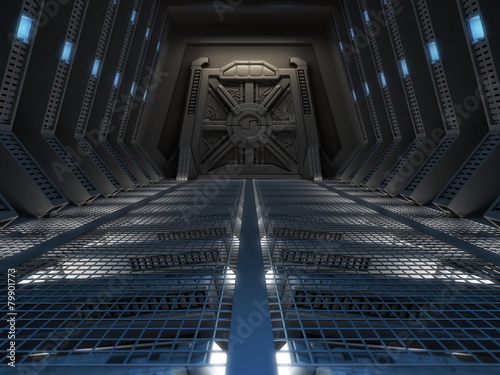 Fotobehang Industrial geb. Futuristic interior