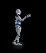 A futuristic android