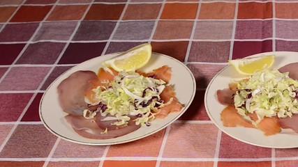 Salmon and Tuna appetizer