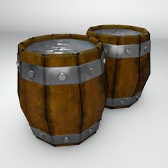 Barile botte con liquido, contenitore