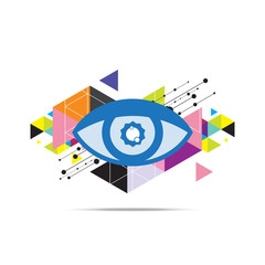 eye abstract background design