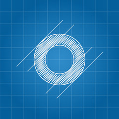 O letter architectural plan
