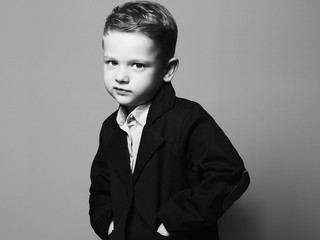 art photo of little boy.stylish child in suit