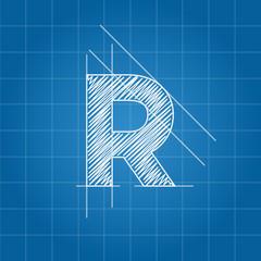 R letter architectural plan