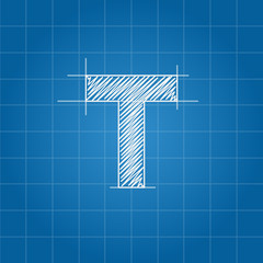 T letter architectural plan