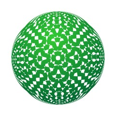 Abstract illustration green sphere