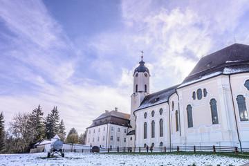 Pilgrimage Church of Wies (Wieskirche) in Bavaria, Germany