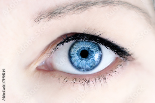 Leinwanddruck Bild Blue Eye