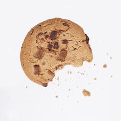 cookie bitten into