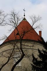 Historic tower in Zagreb, Croatia.
