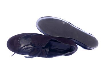 Bota negra suela y parte superior