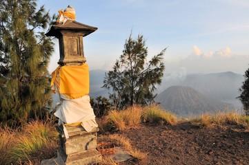 Hindu Shrine at Bromo Tengger on Java, Indonesia