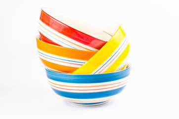 set of colorful bowl