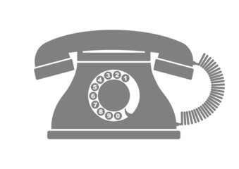 Telephone vector icon on white background