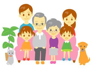 家族 ソファ 二世帯