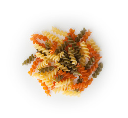 Colorful Rotini corkscrew pasta with vegetables