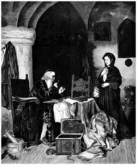 Usurer - Chez l'Usurier - 19th century