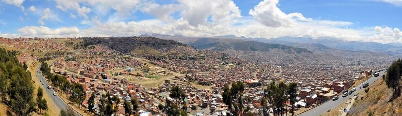 La Paz in the Andes, capitol Bolivia
