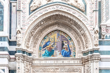 Detail of Cathedral Santa Maria del Fiore, Florence, Italy