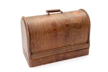 Vintage wooden sewing machine case