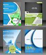 Set of flyer design content background.