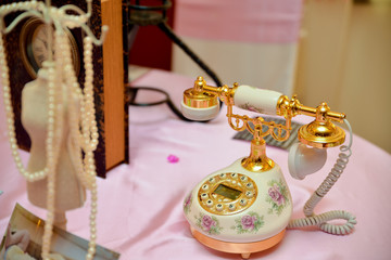 Beautiful painted old phone
