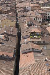 Via del centro dall'alto, Lucca