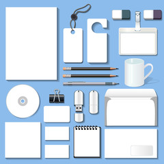 illustration of a set of design templates for business