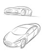 Car silhouette. Vector illustration.